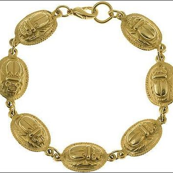 Egyptian Gold Scarab Bracelet - 4502