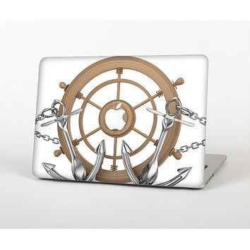 The Nautical Captain's Wheel with anchors Skin for the Apple MacBook Pro 13""