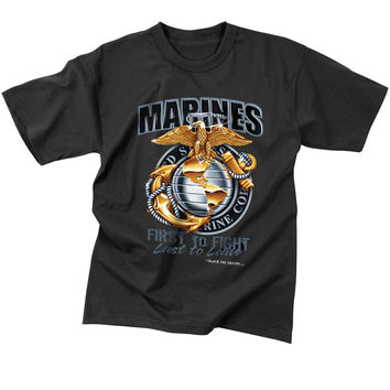 Black Ink Marines 'First To Fight' T-Shirt