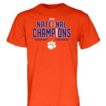V0NE05TF NCAA Clemson Tigers 2016 National Champions T-Shirt
