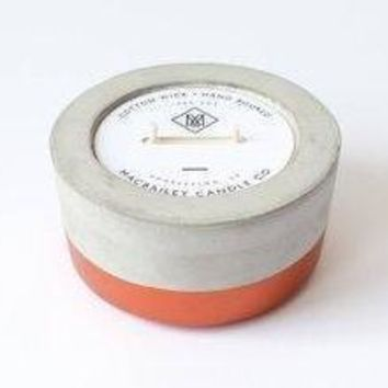 Scented Soy Candle in Copper Dipped Concrete