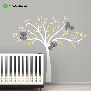 Modern Koala Tree Branches Wall Decal Baby Nursery Wall Decor Vinyl Mural DIY Wall Sticker For Kids Room Bedroom Wall Art A-31