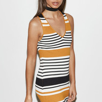 Kendall & Kylie Stripe V-Neck Sweater Dress at PacSun.com
