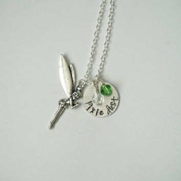 Disney's Peter Pan Tinkerbell Inspired Necklace