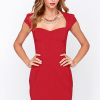 LULUS Exclusive Share the Love Wine Red Dress