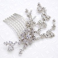 Crystal Vine Hair Comb