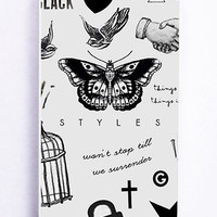 iPhone 5S Case - Rubber TPU Cover with One Direction Harry Styles Tattoos Rubber Case Design