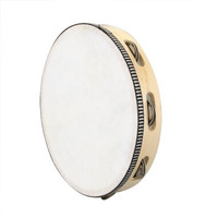 """SEWS 10"""" Musical Tambourine Drum Round Percussion Gift for KTV Party"""