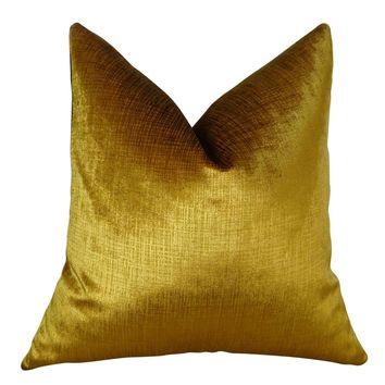 Plutus Lumiere Bronze Handmade Throw Pillow Double Sided