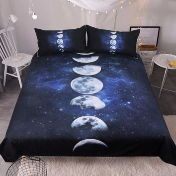 Lunar Phases Bedding Set