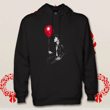 bruno mars hoodie. pullover. sweatshirt. sweater. color black white green blue gray red for size s - 3xl