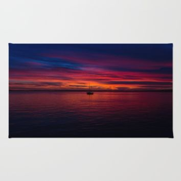 Hawaii Sunset Rug by Happy Home Artistry