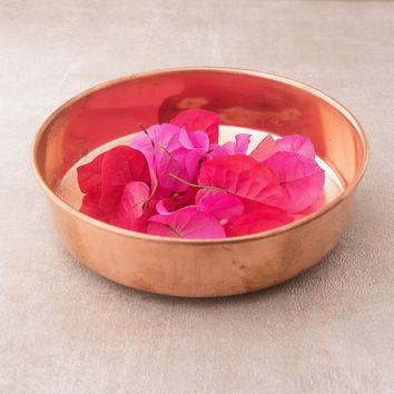 Copper Puja Offering Plate