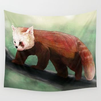 Red Panda Wall Tapestry by Ben Geiger