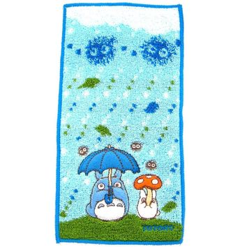 Tiny My Neighbor Totoro Umbrella Embroidered Handkerchief Towel | Studio Ghibli Japan