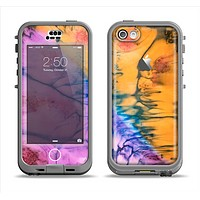The Vivid Colored Wet-Paint Mixture Apple iPhone 5c LifeProof Nuud Case Skin Set