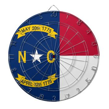 Dartboard with Flag of North Carolina, USA