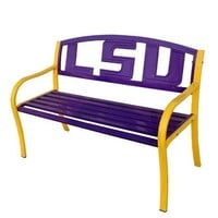 LSU Tigers Metal Collegiate Bench