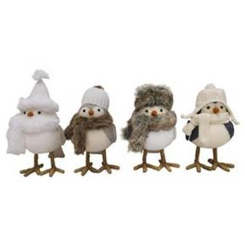 4ct Winter Mountain Decorative Fabric Birds - Wondershop™