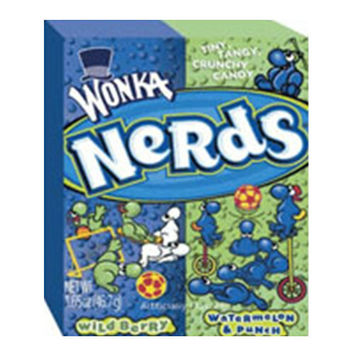 Wonka Nerds Wild Cherry Watermelon, Punch Tiny Tangy Crunchy Candy - 1.65 Oz, 36 Ea