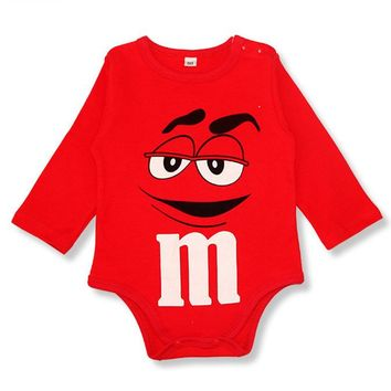 Baby Rompers Newborn Baby Girl Clothes Long Sleeve Baby Costume Infant Clothes Smile Character M Baby Boys Rompers