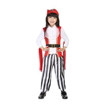 VLX2WL On Sale Hot Deal Pirate Costume Halloween Children Cosplay Custome [8978919431]