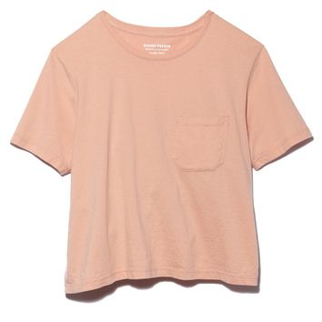 Boxy Crop Tee - Blush
