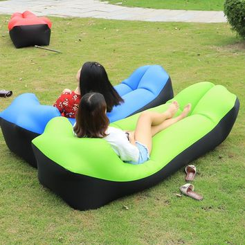 Fast Inflatable Lazy bag Air Sleeping Bag Camping Portable Air Sofa Beach Lazy Sofa Bed Inflatable Sofa gonflable air lounger