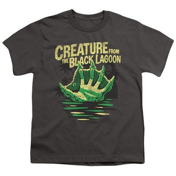 Creature from the Black Lagoon Kids T-Shirt Hand Charcoal Tee