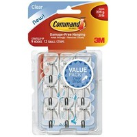 Command Small Clear Wire Hooks with Clear Strips (9-Pack)-17067CLRVPES - The Home Depot