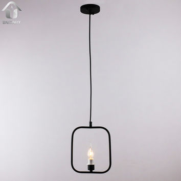 Black Vintage Simple Metal Hanging Ceiling Pendant Light with 1 Light