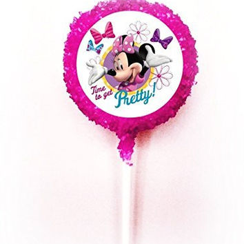 MINNIE MOUSE BOWTIQUE TIME TO GET PRETTY BOUTIQUE White Chocolate Covered Oreo Cookie Pops