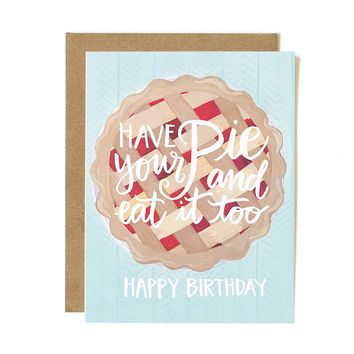 ONE CANOE TWO HAVE YOUR PIE BIRTHDAY CARD