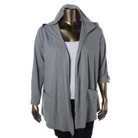 Style & Co. Womens Heathered Long Sleeves Hoodie