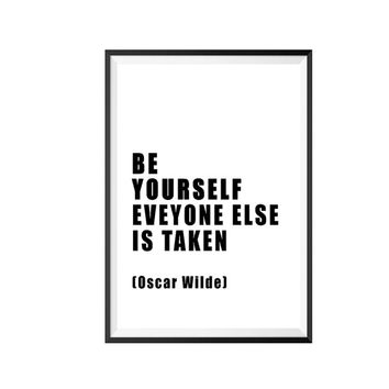 """Oscar Wilde Quote Print """"Be Yourself. Everyone Else is Taken - Printable Art 