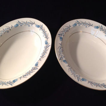 "RETRO CHIC Set of 2 Theodore Haviland ""Clinton"" serving bowls - Elegant Entertaining - Housewarming/Birthday/Engagement/Wedding/Shower Gift"