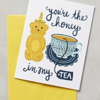 Little Low Studio You're The Honey In My Tea Card in Dark Yellow Size: One Size Books