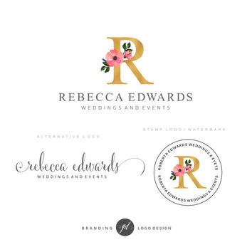 Wedding planner logo design, Premade Branding Kit, Flower logo Photography logo, Blog kit Watermark, Wedding logo design event, Branding kit