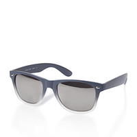 Matte Ombre Mirrored Sunglasses Grey/Black One