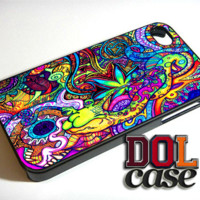 Psychedelic Weed iPhone Case Cover|iPhone 4s|iPhone 5s|iPhone 5c|iPhone 6|iPhone 6 Plus|Free Shipping| Consta 370