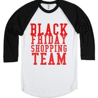 Black Friday Shopping Team-Unisex White/Black T-Shirt