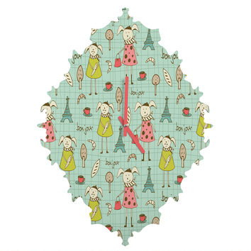Heather Dutton Bonjour Lapin Baroque Clock