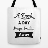 A Book A Day Tote Bag by Pati Designs