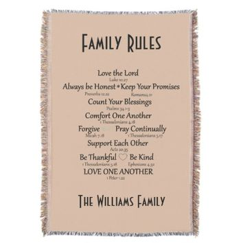 Bible Verse Family Rules Personalized