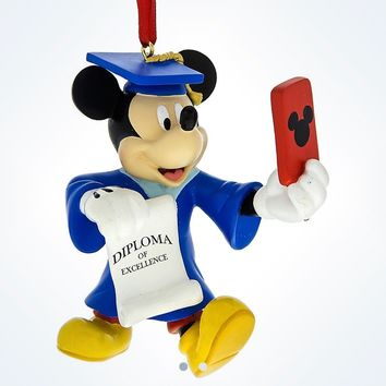 Disney Parks Mickey Selfie Graduation Ornament Diploma New With Tag