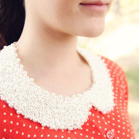 Peter Pan Collar // Pearl // Detachable // Embellishment