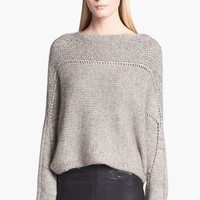 Women's Helmut Lang Novelty Knit Poncho Sweater, Size Large - Grey