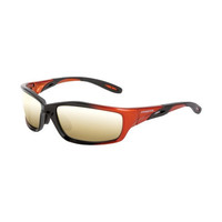 Crossfire Safety Eyewear Mach 1 Shiny Black Frame Gold Lens