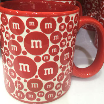 M&M's World Red Lentil Ceramic Coffee Mug New