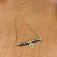 Om Charm Necklace- 14k Gold Filled